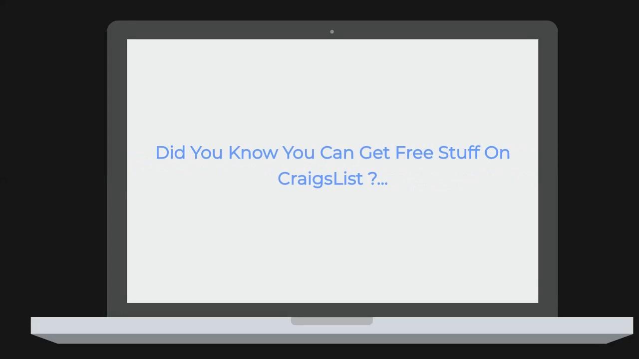 Free Stuff In CraigsList - YouTube