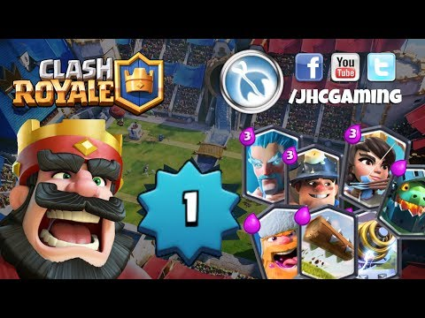 (REPLAY) Clash Royale live: Legendary Chest hype!!, level 1 account and more
