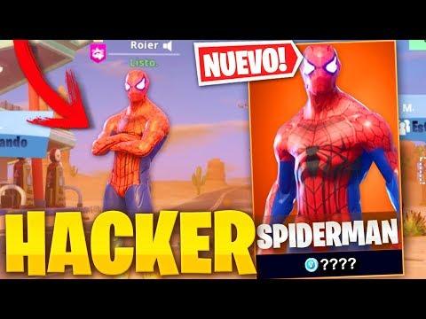 HACKER ME REGALA SKIN DE SPIDERMAN EN FORTNITE - Roier