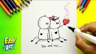 IDEAS - Como Hacer una Tarjeta de Amor - San valentin - love cards - Easy Art