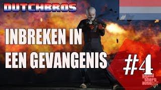 GTA V - Online: Gevangenis Uitbreken & Politie gevecht // Bus Stelen //  Dutch Commentary
