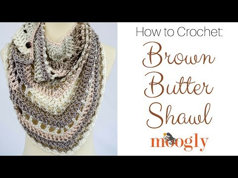 How to Crochet: Brown Butter Shawl (Right Handed)