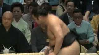 里山回転してるよ! 平成25年春場所14日目 sumo kyokusyuho satoyama.