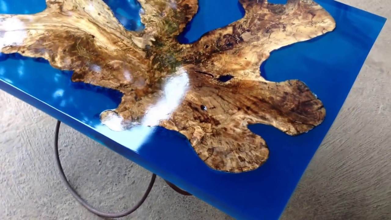 Resin Table With Spalted Root Teriswood Youtube