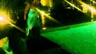 Bride Jumps in the Pool - Stephanie & Wayne Wedding - Punta Cana 2012
