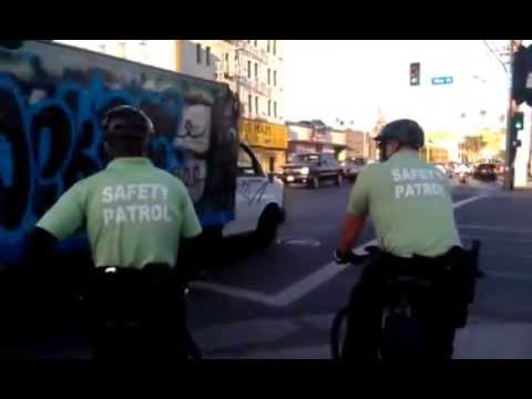 2014 10 03 hollywood BID safety officers hassle a crazy guy