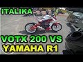 ITALIKA VORT X 200 VS YAMAHA R1 CARRERA MOTOVLOGUER