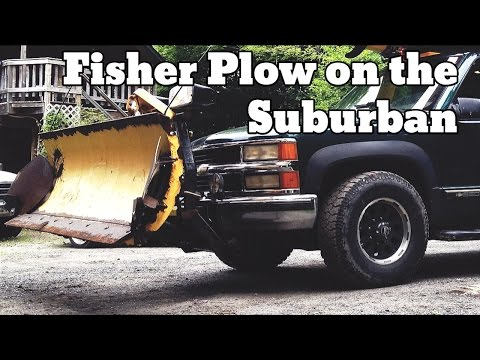 Putting A Plow On The Suburban, Fisher 7125 Push Plate Install