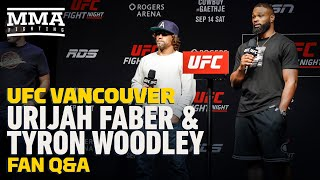 UFC Vancouver Q&A Session: Urijah Faber and Tyron Woodley - MMA Fighting