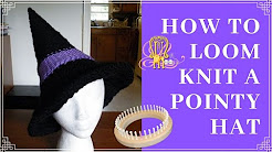 How to Loom Knit a Witches or Wizards Hat
