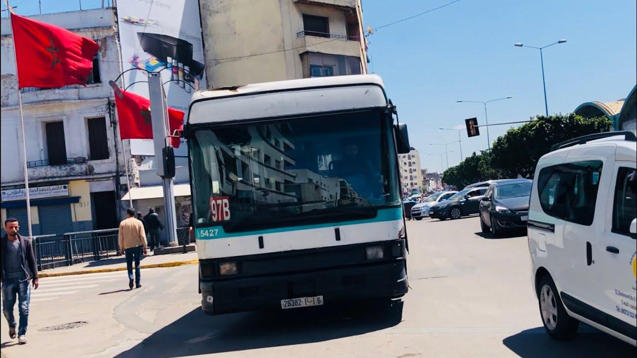 شاهد فضيحة السيارات لا يحترمون ممر الرجلين في الدار البيضاء Bus almost ran me over in MOROCCO