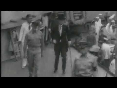 National Anthem of the USA (Japanese newsreel, 2nd September 1945)