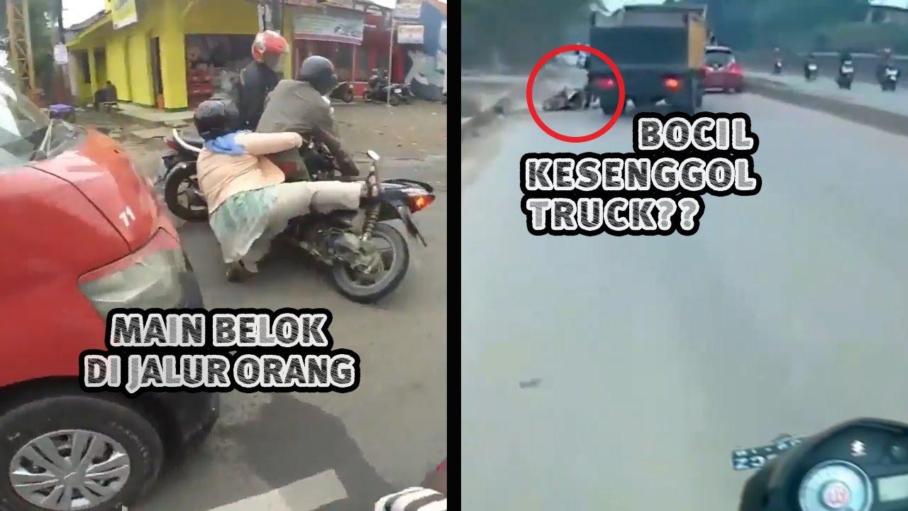 Crash Depan Angkot Gara2 Salah Ambil Jalur - Akibat Bocil Di Kasih Bawa Motor || RH #55