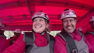 World's fastest zip line - Velocity at ZipWorld, Wales