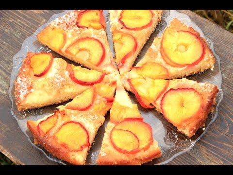 Brzi kolač s breskvama -  Video -  Cake with peaches