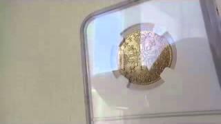フランス 1641年ルイ13世ルイドール金貨1641 A MS63 NGCロングカールヘアー