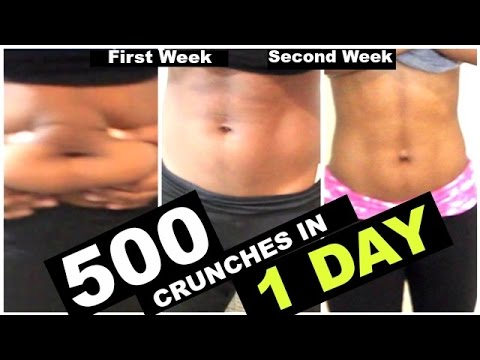 What 1 DAY of 500 crunches DID TO ME!!!