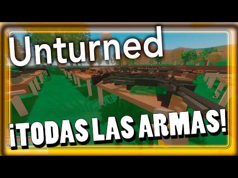 UNTURNED - ¡TODAS las ARMAS del JUEGO! + ¡LANZACOHETES Y MAPA NUEVO!