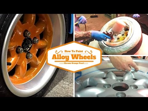 How To Paint Your Alloy Wheels - Chrome Orange Pearl -
