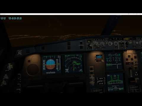 EKCH Copenhagen night landing - Jar A330 with X-Plane 11 b9