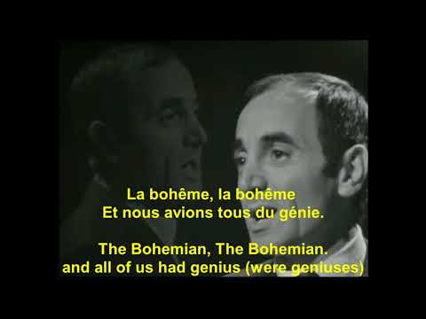 Charles AznavourLa Bohemeavec Paroles françaiswith English lyrics