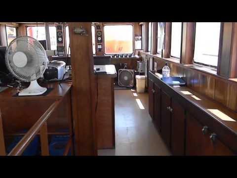 FMS Justice, tour of vessel's bridge