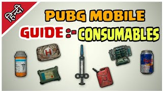 Guide :- Pubg mobile Consumables Hindi | What is adrenaline syringe | Energy drink vs painkiller |