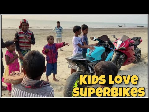 Kids Reaction To SUPERBIKES 😍 Alafiia Camp (Mousuni Island)