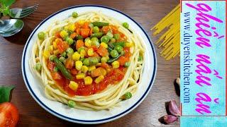 Spaghetti Chay Từ Rau Củ Đông Lạnh By Duyen's Kitchen | Ghiền nấu ăn