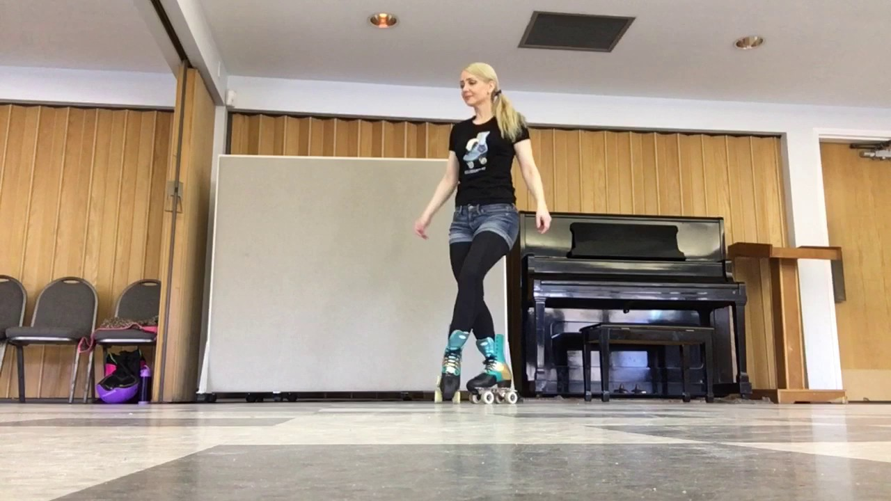 acd824f1eab4 Warm up on roller skates   some moves to improve balance - YouTube
