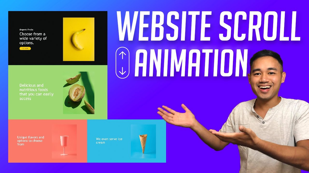 How to Make a Website using HTML, CSS, & GSAP with Scroll Animation Effect