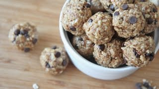 No-bake Healthy Granola Energy Bites Recipe (peanut Butter Chocolate)
