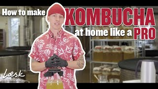 How to make kombucha at home (like a pro) | Step-by-step | Eric from Læsk