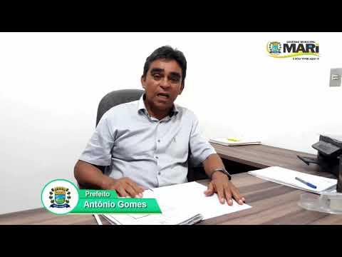 Prefeito de Mari, Antonio Gomes, anuncia rateio do FUNDEF com os servidores do magistério