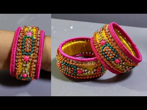 How To Recycle Old Bangles In To New | Amazing hand made Craft