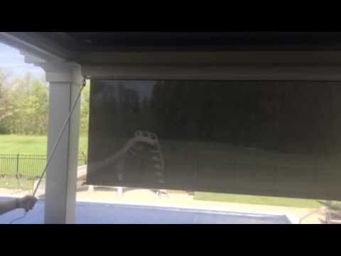 Exterior solar roller shades - YouTube