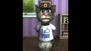 Прикол! iPhone говорящий кот Том поет( потап и настя крепкий орешек)