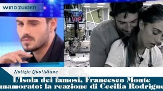 L'Isola dei famosi, Francesco Monte innamorato: la reazione di Cecilia Rodriguez | Wind Zuiden