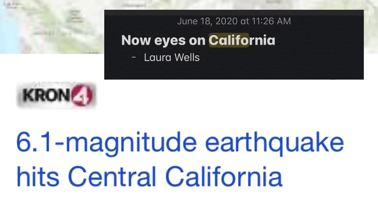 California Earthquakes/ Frontside Alignment With Brown Dwarf System - Hit On Cue