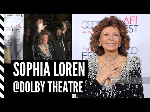Sofia Loren and sons Carlo and Edoardo Ponti  Dolby Theatre  AFI Nov. 12, 2014
