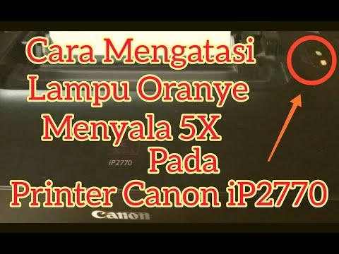 Cara Mengatasi Printer Canon IP2770 Red Blinking 5X Lampu Merah Kedip Lima Kali, tonton video sampai.