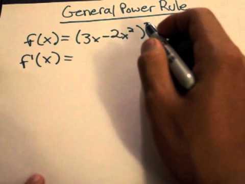 Calculus Tutorial: General Power Rule