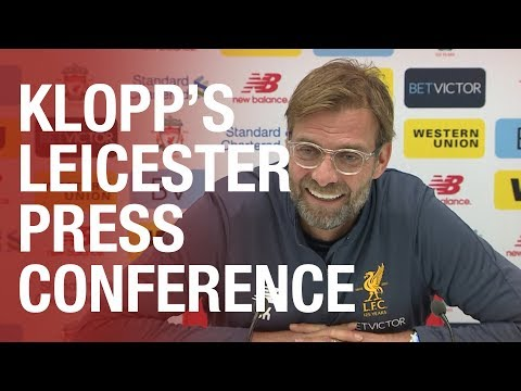 Jürgen Klopp's pre-Leicester City press conference