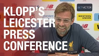 Jürgen Klopp's pre-Leicester City press conference | Team news, Henderson update and more