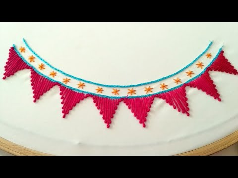 Hand Embroidery Simple Neck Line Design Tutorial Neck Embroidery At Home Youtube,Powerpoint Template Design Free Download 2020