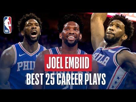 Joel Embiid's Best 25 Career Plays! thumbnail