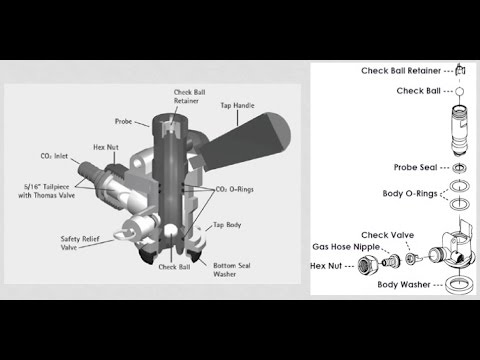 How to clean a draft beer tap keg coupler  YouTube