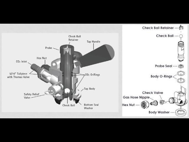 how to clean a draft beer tap keg coupler youtube : keg coupler diagram - findchart.co