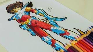 Desenho Gamer - Desenhando o Seiya do Cavaleiros do Zodíaco: Alma dos Soldados
