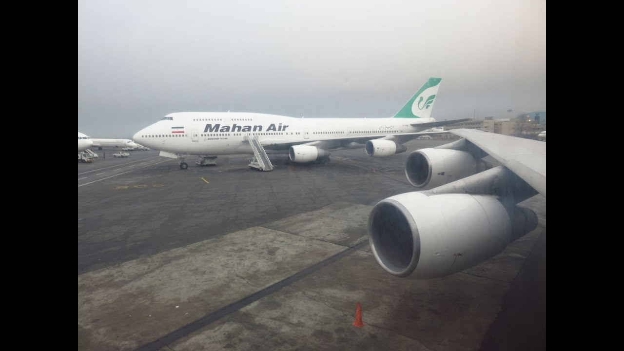 55a312506e22 Mahan Air Boeing 747-300 EP-MND With Stand, 1:200 Inflight 200 IF-7430717
